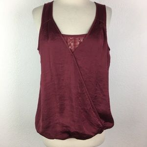 Maurices NWT Maroon Wrap Top Large